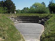 The open air Amphitheatre in the garden of Steprath Mansion